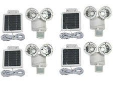 4 Pack White 22 LED Motion Sensor Security Solar Powered Spotlight Outdoor Light
