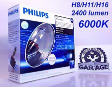 Philips LED Fog H8 H11 H16 6000K Xtreme Vision Twin pack bright white 12834UNIX2
