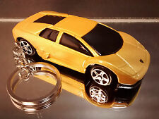 Lamborghini Murcielago Key Chain Ring Yellow Diecast Fob
