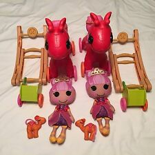 Lalaloopsy Littles Rocker 'n' Stroller  (2) Cloth Dolls Pull Carts/camels