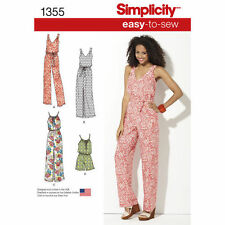 Simplicity 1355 Paper Sewing Pattern Misses Size 6 -26 Maxi Dress, Jumpsuit