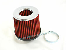 "RED UNIVERSAL 2.5"" CHROME TOP AIR FILTER FOR SUZUKI/SAAB SHORT/COLD AIR INTAKE"
