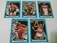 2014-15 Donruss Scoring Kings 5 NBA Card Lot (Chamberlain, Erving, Maravich)
