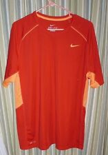 NIKE MENS LARGE DRI-Fit shirt. Two-tone orange. Under sleeve/arm venting. Exc