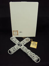 Large White Wound Wire Wall Cross w/Gift Box ~ Handcrafted From Calypsyo Studios