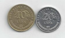 2 DIFFERENT COINS from CROATIA - 10 & 20 LIPA (BOTH DATING 2007)