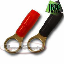 2 - 8 Gauge Wire Cable Ring Terminal Connectors Red and Black Boots Electrical