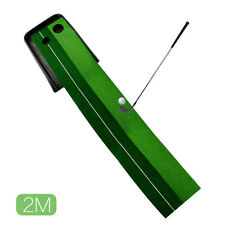 Indoor Golf Practice Putting Mat Double Holes Design Training Tool for Putting