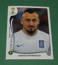 N°221 MITROGLOU GREECE GRECE PANINI FOOTBALL FIFA WORLD CUP BRAZIL 2014 BRASIL