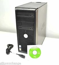 32BIT 500GB 4GB RAM DELL CORE 2 DUO 3.0GHZ OPTIPLEX 755 TOWER XP PRO PC COMPUTER