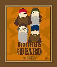 DUCK DYNASTY BROTHERS OF THE BEARD PANEL FABRIC