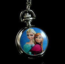 Princess Necklace Pocket Anna Elsa Watch Child Watch Fashion FZ04