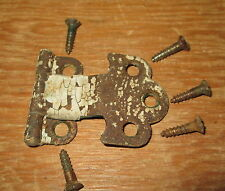 HOOSIER CABINET DOOR HINGE + SCREWS ORIGINAL HOOSIER CABINET PART VERY EARLY