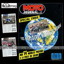 MOTO JOURNAL N°910 HONDA CB 750 FOUR, APRILIA 125 PEGASO, ADRIEN MORILLAS 1989