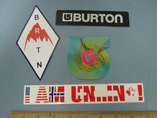 BURTON snowboards NEW/OLD 4 STICKER SET ~NEW & FRESH~UNINC~!
