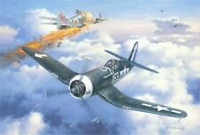 """""""Dean's Tight Spot"""" Roy Grinnell Print Signed by WW II Ace 1st Lt. Dean Caswell"""