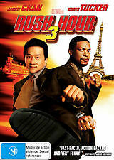 RUSH HOUR 3 - BRAND NEW & SEALED REGION 4 DVD (JACKIE CHAN, CHRIS TUCKER)