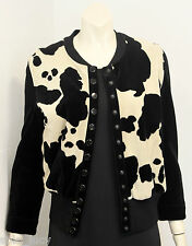 SONIA RYKIEL Paris Vintage 1980's Animal Print Velour Jacket Size PS RARE & FAB!