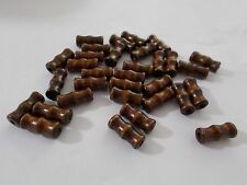 100pcs 16mm x 7mm Wooden TUBE Beads - Bamboo Styled WOOD Jewellery BROWN