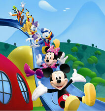 8x8FT Mickey Minnie Mouse Family Slide Photo Studio Background Backdrop Vinyl