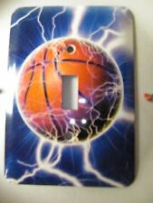Basketball Balls Sports Unique Wall Art Home Decor LIGHT SWITCH PLATE cover