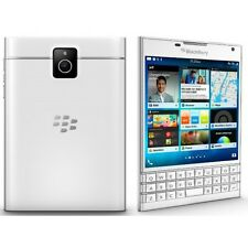 NEW BlackBerry Passport SQW100-1 White (Eng K/B) International Model No Warranty
