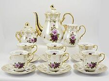 New THUN  KARLOVARSKY Rose Pattern Design Fine Porcelain China Tea Set