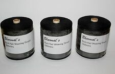 Hair Extension Weaving Thread Black -3 Rolls of 1000mtr.