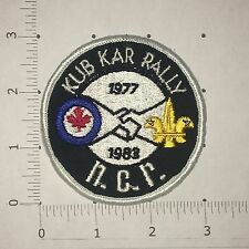 Kub Kar Rally Patch - NCR 1983 - Vintage - Boy Scouts