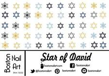 Star of David Waterslide Nail Decals  - 50 PC - BNA-10052