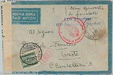 60053  - ITALIA Libya  - STORIA POSTALE - POSTA MILITARE 132  TASSATA a TRIESTE