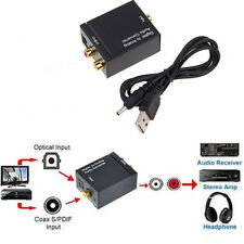Optical Coaxial Toslink Digital to Analog Audio Converter Adapter RCA R/L +Cable