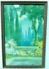"R Atkinson Fox Midsummer Magic Print under glass in 15"" x 23""  Period Frame"
