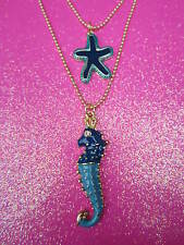 Betsey Johnson SeaHorse & StarFish Necklace