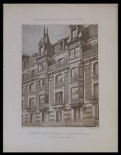 BOULOGNE BILLANCOURT - PLANCHES ARCHITECTURE 1900 - SALARD, MONTROUGE, BABOIN