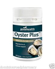 Good Health Oyster Plus 60 capsules Added Zinc for male vitality -- DRP
