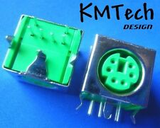 6 Pin Mini Din Socket PS / 2 Femmina Connettore mouse PCB MOUNT Pacco da 2