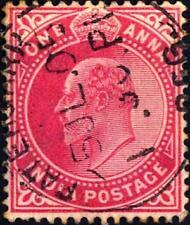 INDIA INGLESE - 1902-1909 - Re Edoardo VII  -  1 a.  -  Rosso carminio