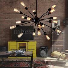 Industrial Retro 18 Light Lamp Iron Sputnik Ceiling Chandelier Pendant Lampshade