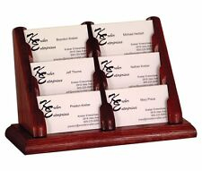 Wooden Mallet 6 Pocket Countertop Business Card Holder Mahogany BCC2-6MH