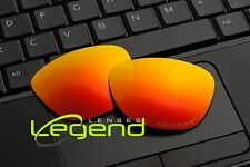 E22 Fire/Red ETCHED POLARIZED Replacement Legend Lenses For Oakley FROGSKIN