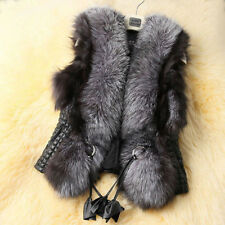 Ladies Faux Fur Vest Waistcoat Bodywarmer Sleeveless Jacket Coat Gilet Outwear