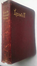 POEMS OF JAMES RUSSELL LOWELL.VISION OF SIR LAUNFAL.BIGLOW PAPERS.1917 LEATHER