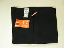 36 X 29 DOCKER FLAT FRONT D2 ON THE GO STRAIGHT FIT WORK KHAKIS - NAVY- NWT