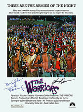 THE WARRIORS AUTOGRAPH MOVIE POSTER A2 594 x 420mm (Very Rare)