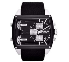 **NEW** DIESEL DZ7326 Mothership 3 Time Zone Dial Black Ion-plated Men's Watch
