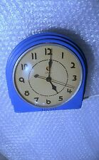 1939-46 VINTAGE MIAMI ART DECO WARREN TELECHRON BLUE DINER/KITCHEN WALL CLOCK