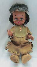 RELIABLE CANADA  NATIVE AMERICAN RAW HIDE DRESSED BEADED DOLL
