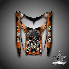 SKI-DOO REV MXZ SNOWMOBILE WRAP GRAPHICS HOOD DECAL 03-07 COWBOY OUTLAW ORANGE