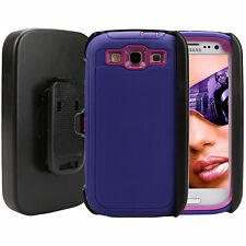 For Samsung Galaxy S3 Case (Clip Fits Otterbox Defender) with Screen Protector